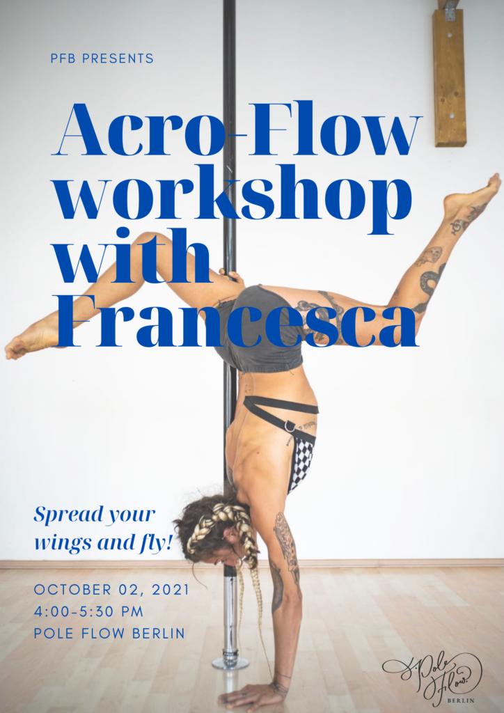 Acro-Flow workshop with Francesca